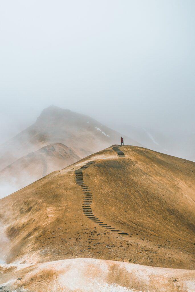 a path on a mountaintop